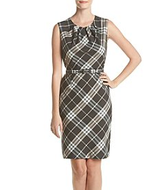 Nine West® Plaid Belted Dress