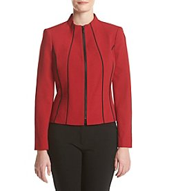 Kasper® Julia Crepe Zip Up Jacket