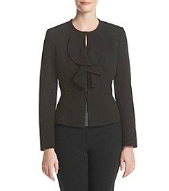 Kasper® Crepe Ruffle Jacket