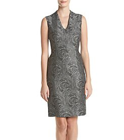 Kasper® Swirl Print Jacquard Sheath Dress