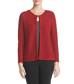 Kasper® Short Shimmer Cardigan