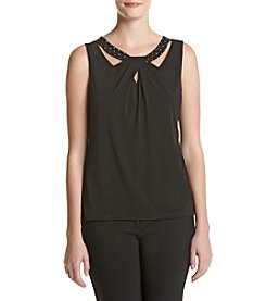 Nine West® Embellished Neck Tank