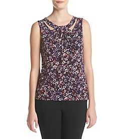 Nine West® Printed Asymmetric Knit Tank