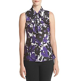 Nine West® Printed Tie Neck Cami