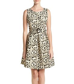 Nine West® Printed Flare Skirt Dress