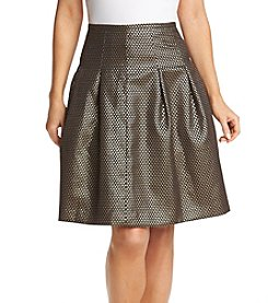 Nine West® Metallic Pleated Skirt