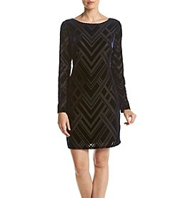 Vince Camuto® Velvet Burnout Dress
