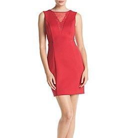 GUESS Sheer V-Neck Dress