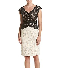 Eliza J ® Sheath Lace Dress