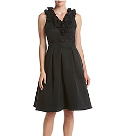 Eliza J® Fit And Flare Ruffle Detail Dress