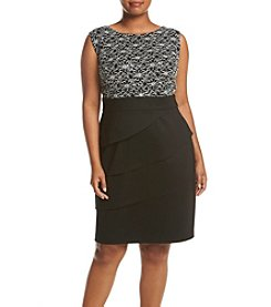 Connected® Plus Size Mixed Texture Dress