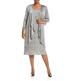 R&M Richards® Plus Size Broomstick Jacket Dress