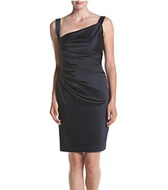 Vera Wang® Diagonal Neckline Dress