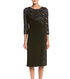 R&M Richards® Petites' Side Panel Lace Dress