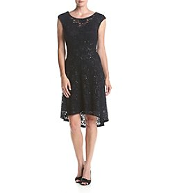 Connected® High-Low Lace Dress