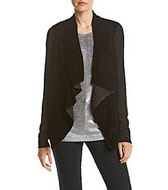 MICHAEL Michael Kors® Velvet Drape Front Cardigan