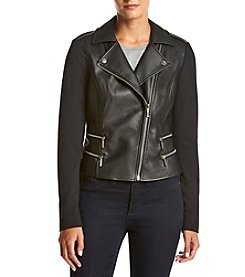 MICHAEL Michael Kors® Faux Leather Ponte Jacket