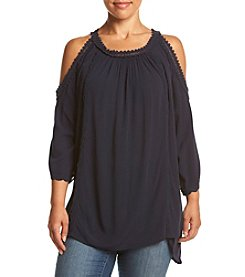 Eyeshadow® Plus Size Cold Shoulder Top