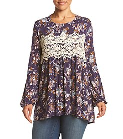 Eyeshadow® Plus Size Lace Detailed Tunic
