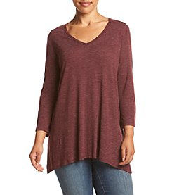Eyeshadow® Plus Size Sharkbite Knit Top
