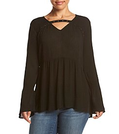 Eyeshadow® Plus Size Lace Detail Top