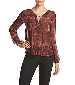 Jessica Simpson Re-Stitched Pattern Blouse