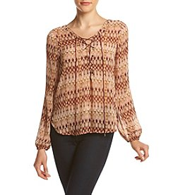 Jessica Simpson Lace-Up Peasant Blouse