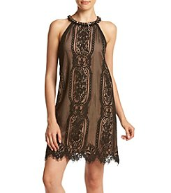 XOXO® Lace Halter Trapeze Dress