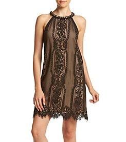 XOXO® Lace Halter Trapeze Dress