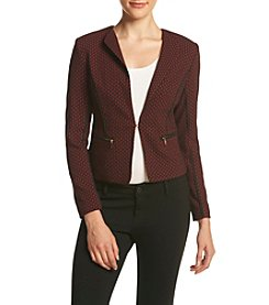XOXO® Arrow Jacquard Blazer