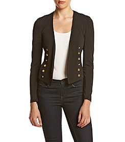 XOXO® Button Detail Open Blazer
