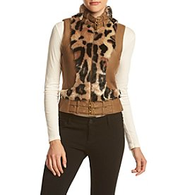 XOXO® Faux Leather Moto Vest