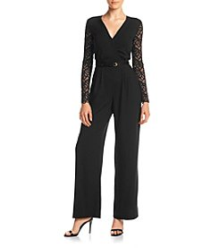 XOXO® Lace Wrap Jumpsuit