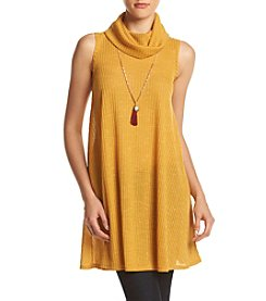 Sequin Hearts® Rib Cowlneck Tunic