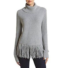 MICHAEL Michael Kors ® Fringe Hem Shaker Sweater
