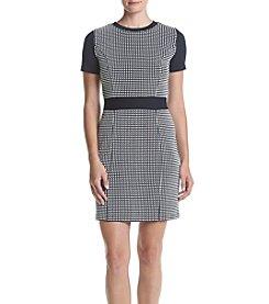 MICHAEL Michael Kors® Textured Gingham Print Dress
