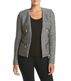 MICHAEL Michael Kors® Boucle Besom Zipper Detailed Blazer