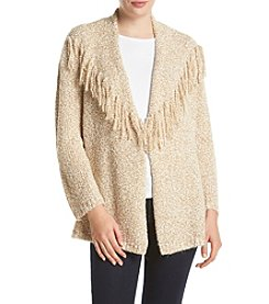 Alfred Dunner® Cactus Ranch Fringe Popcorn Stitch Cardigan