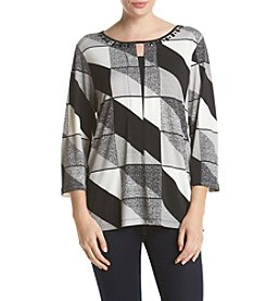 Alfred Dunner®Wrap It Up Printed Knit Top