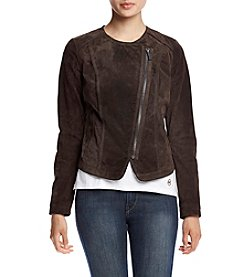 MICHAEL Michael Kors® Short Asymmetrical Zip Suede Jacket