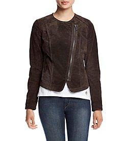 MICHAEL Michael Kors® Short Asymmetrical Zip Suede Jacket