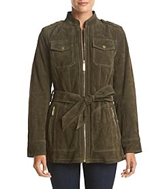 MICHAEL Michael Kors® Belted Suede Jacket With Patch Pockets