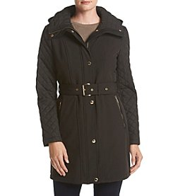 MICHAEL Michael Kors® Belted Funnel Neck Trench Coat