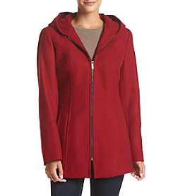 London Fog® Hooded Zip Front Coat