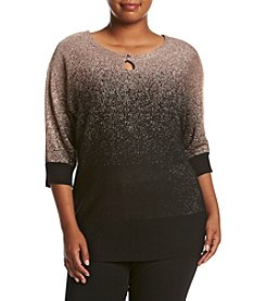 Studio Works® Plus Size Dolman Sleeve Crew Neck Sweater