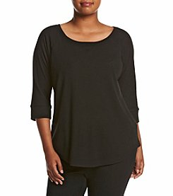 Calvin Klein ® Performance Plus Size Raglan Sleeve Pullover Top