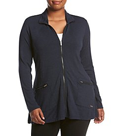 Calvin Klein Performance Plus Size Shark Bite High Collar Jacket