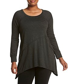 Calvin Klein Performance Plus Size Asymmetric Seam Tunic