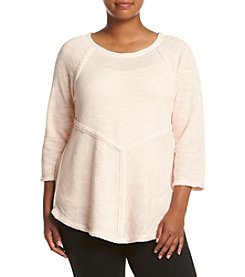 Calvin Klein Performance Plus Size Raglan Sleeve Pieced Top