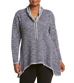 Calvin Klein Performance Plus Size Cowl Neck Shark Bite Hem Tunic